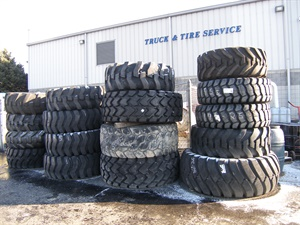 Although not a large part of the business, Sylvester also sells and services OTR tires based on customer requests.