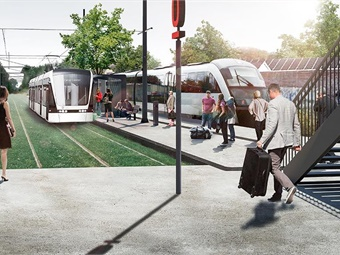 It is also hoped that the new light rail service will slow the growth of car use in Odense and the surrounding region, in support of the local sustainability agenda. Image: Keolis