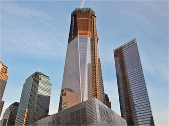 Image of One World Trade Center tower taken November 2011. Photo credit: Joe Woolhead.