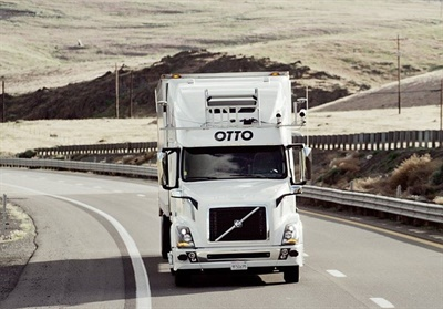 A company called Otto is currently testing self-driving trucks, which it touts as a way to avoid accidents and increase safety in long-haul transit.
