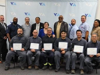 Graduates of Santa Clara Valley Transportation Authority's Overhead Line Worker Apprenticeship, part of VTA/ATU Joint Workforce Investment program. Photo: Santa Clara VTA