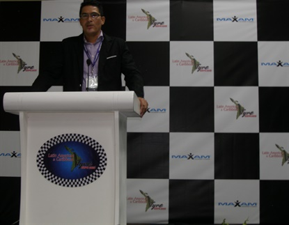 Cesar Mendieta from Hankook was one of seven speakers at the Latin American & Caribbean Tyre Expo.