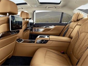 Clients will be impressed with the back seat.