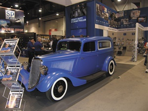 Bosch Automotive Service Solutions featured the latest in OTC automotive tools and equipment alongside a fully restored 1930s Ford delivery truck. The restoration included 1930s-era OTC branding. The truck is a tribute to the company's heritage as one of the first mobile tool selling manufacturers. In the booth, technicians could try new specialty tools and equipment as well as compete in diagnostic challenges for OTC kits and tools.