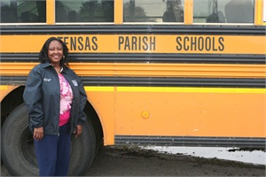 Tensas Parish School Board bus driver Lillie Lewis recently received the 2013-14 Statewide Bus Driver of the Year award from the Property Casualty Alliance of Louisiana.