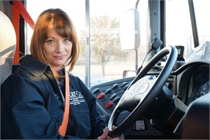 Shelley Wilkenson, a bus driver for Midlothian (Texas) Independent School District, received the 2013-14 Statewide Bus Driver of the Year Award from the Property Casualty Alliance of Texas.