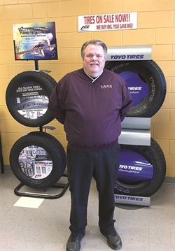 """Mike Nix at the Lake Region Co-op said Tire Solutions """"is my No. 1 vendor that I deal with. Nobody takes care of you like they do."""""""