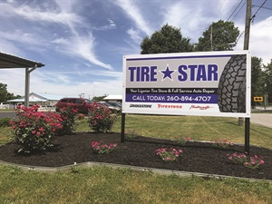 Austin Miller and his brothers Eric and Kyle are equal partners in the Tire Star store in Ligonier, Ind. Austin also owns a store in Wolcotville, Ind.