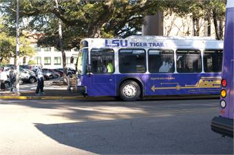 Recently, LSU launched the bus tracking application, Transloc, enabling students to use their smart phones or the Web to track the university's on-demand bus system, Campus Transit, in addition to Tiger Trails.