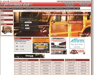 Wheel Warehouse's website is in-your-face and changes constantly. The site triggers action and excitement from the viewer.