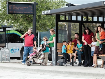 Rationalizing the number of bus stops is a consideration when trying to boost on-time performance.