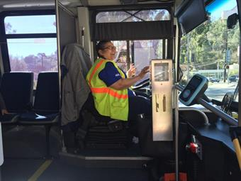 Juanita Navarrette, a PV Transit bus driver for 17 years, has transported Dixon's class on CBI outings for over a decade.
