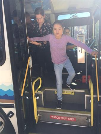 Miraleste's CBI outings are not specially arranged trips, so Special Education Teacher Lori Dixon has to select destinations that are located off the regular bus route.