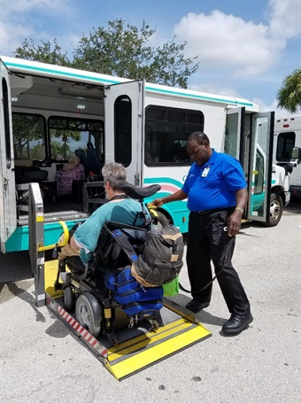 Many of Palm Beach County's most vulnerable citizens, such as those with disabilities and special needs, relied on shelters for safety during the storm.  Photo: Palm Tran