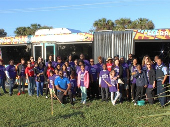 Palm Tran employees and volunteers gather at annual Martin Luther King Jr. Parade in Riviera Beach.Palm Tran