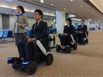 The wheelchairs function by following a predetermined leader to a common destination, and ANA staff will be on hand to serve as guides.ANA