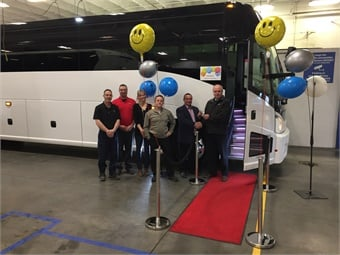 Parsons & Sons Transportation takes delivery of a 2019 MCI J4500 coach.