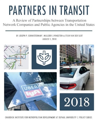 Photo and Map of Transit TNC Partnerships courtesy DePaul University.