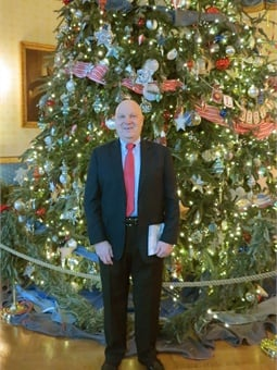 In 2012 Paul was invited, as part of the U.S. Department of Transportation contingent, to enjoy viewing and visiting the White House for the holidays. NTI serves as the training arm for the Federal Transit Administration.  Photo