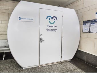 The new lactation pod installation is the latest in a series of customer-friendly initiatives adopted by the Long Island Rail Road.NY MTA/LIRR