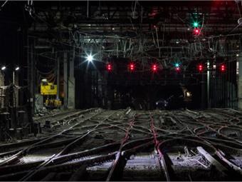 Amtrak photo of work on A Interlocking.
