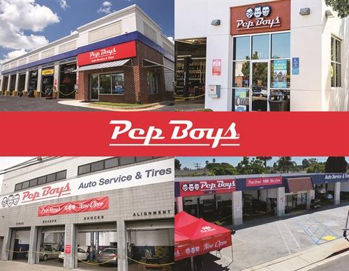 The four new Pep Boys stores, clockwise from upper left: LaGrange, Ga.; Rocklin, Calif.; Lawndale, Calif; andAstoria, N.Y.