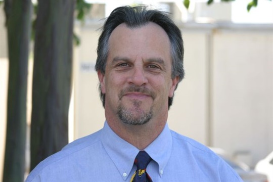 """As a consultant, Pete Meslin says he will work to help school districts """"serve students better and less expensively."""""""