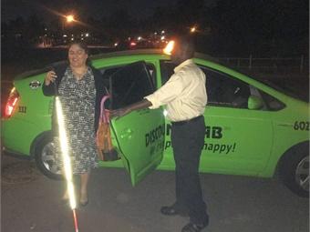 Dial-A-Ride customer Hilda Moreno. Photo: Phoenix DOT