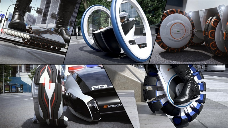 The top tire technology designs by college students participating n Hankook's Design Innovation program were displayed at the company's Design Insight Forum event.