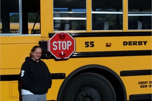 While on her morning route, All-Star Transportation bus driver Heidi Ouellette came to the aid of two women after their house caught fire.