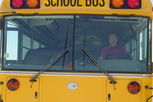 Author Bill Lehman says that once he became comfortable with parallel parking a school bus, he felt confident that he could get through the DMV test.