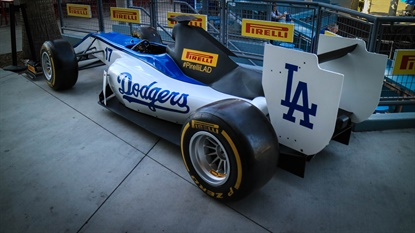 This Formula One car will be on display inside Dodger Stadium, and brand ambassadors will be on site to engage fans.