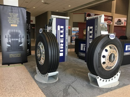 Pirelli went back to MATS to show off its lineup of commercial tire products that will be available in the U.S. and Canada.