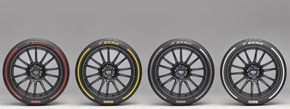 Pirelli will debut its colored tires in red, yellow, white and silver as one more tailor-made feature for customers.