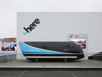 The Virgin Hyperloop One XP-1 pod used in recent phase three testing where the company achieved record speeds of 240 miles per hour will be unveiled to the public for the first time at CES at the HERE Technologies Booth.