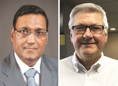 Arvind Poddar (left) and Bob Majewskiare the 2018 inductees for the TIA Hall of Fame.