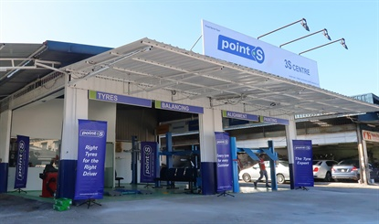 The first Point S store has opened in Asia. It joins 3,500 points of sale worldwide.