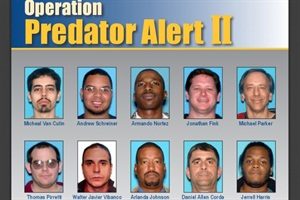 Pictured are some of the 14 men who were recently arrested and charged in an operation targeting child pornography offenders in New Jersey.