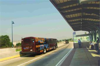 The Pittsburgh busway is the oldest BRT system in the U.S. Photo courtesy Port Authority of Allegheny County.
