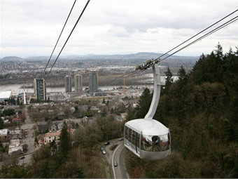 The Portland, Ore. Aerial Tram car. Photo: Wikimedia Commons/Cacaphony
