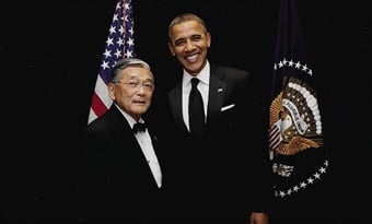President Obama and Norm Mineta. (Photo used with permission from Mineta photo archives.)