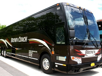 In 1980, Brown Coach opened its doors to provide coach bus and coach service for the tri-city area of Albany, Schenectady, and Troy.Prevost