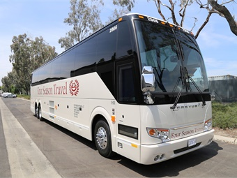The new H3-45 coaches are equipped for high-level comfort. Prevost