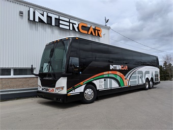 Intercar plans to utilize the new H3-45 coaches predominately for scheduled charter services into the U.S.