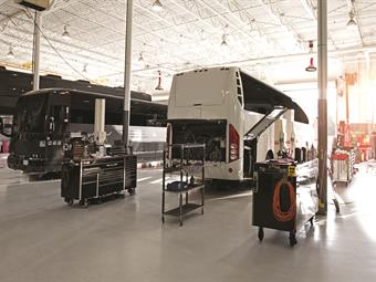 In addition to its service centers, Prevost operates a fleet of 55 vans to provide mobile service by factory-trained technicians when and where customers need it.
