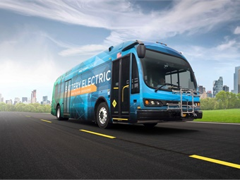 "Proterra electric buses feature an ""industry-leading bus design,"" including a lightweight composite body, energy dense battery systems, highly efficient electric drivetrain technology, and a connected vehicle intelligence system, according to the company.Proterra"
