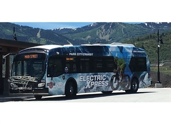 Park City Transit has deployed Utah's first zero-emission, battery-electric mass transit fleet, which will include six Proterra Catalyst FC+ buses (shown). Courtesy Park City