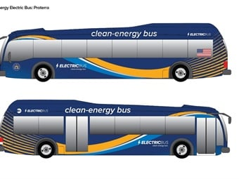 Rendering of Proterra electric bus
