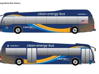 Rendering of Proterra electric bus