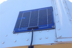 PulseTech Products has developed the SP-5, a solar-powered solution to continually charge, maintain and significantly extend the normal lifecycles of 12-volt and 24-volt batteries. Pictured here is an SP-5 installed on the roof of a school bus.